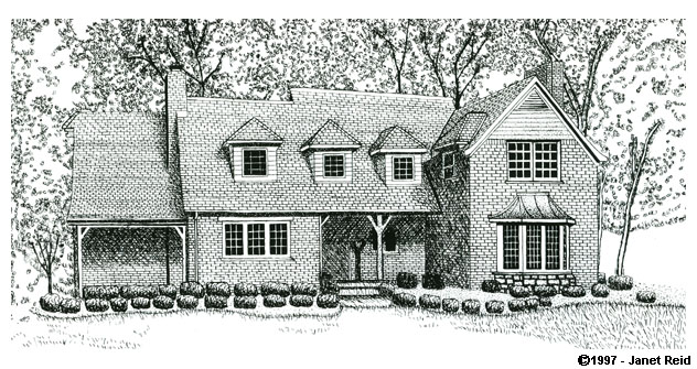 Portfolio gallery pen and ink drawing of a house Draw your house